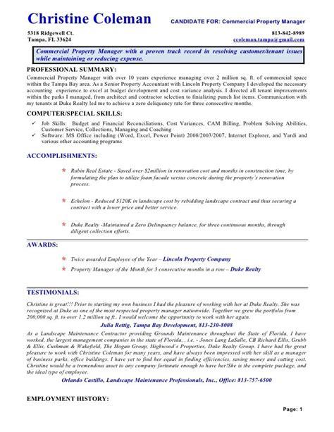 sample assistant property management resume marketing assistant