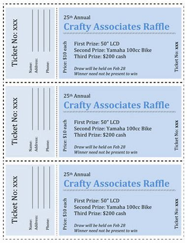 print your own raffle tickets how to save your ticket design