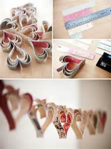 dekoration basteln deko ideen zum valentinstag mit herzen zum selber basteln