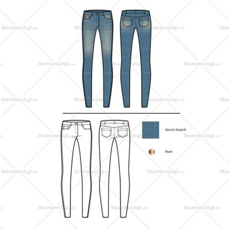 pattern illustrator jeans women s fashion sketch templates page 7 illustrator stuff
