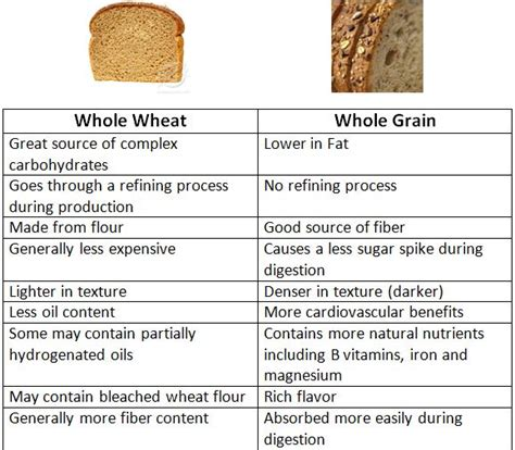 whole grains vs grains whole wheat vs whole grain l health