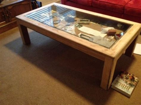 glass top coffee table plans