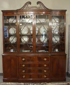 Solid Oak Desk With Hutch Antique Breakfront Crotch Mahogany China Cabinet Hutch At