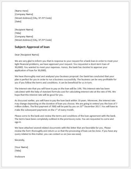 Commitment Letter Before Appraisal loan approval letter template grand commitment before