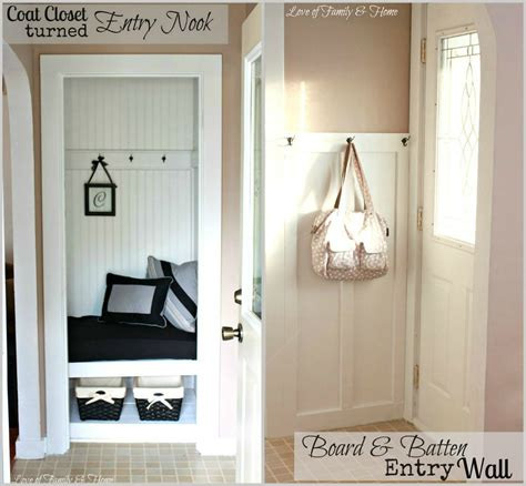 foyer nook ideas a small closet is transformed into an entry nook with
