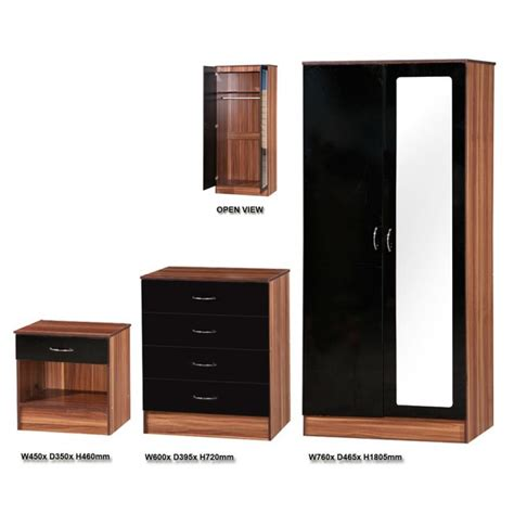 bedroom furniture black gloss walnut and black gloss bedroom furniture