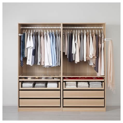 schrank pax pax wardrobe white stained oak effect ilseng white stained