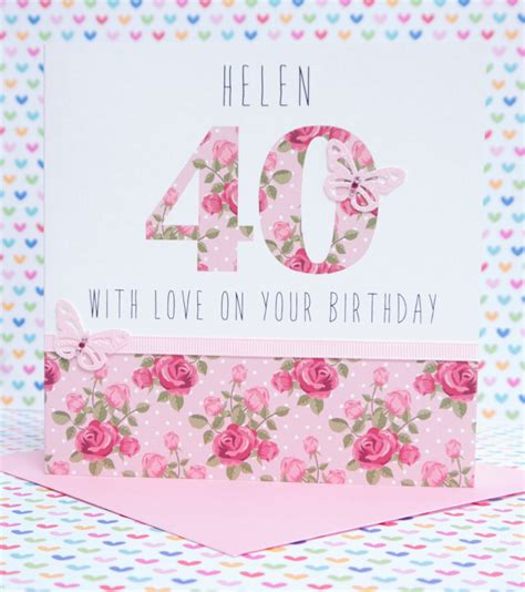 Handmade 30th Birthday Card - beautiful personalised handmade birthday card 18th 21st