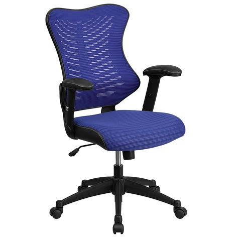 designer swivel chairs high back blue designer mesh executive swivel office chair with mesh padded seat