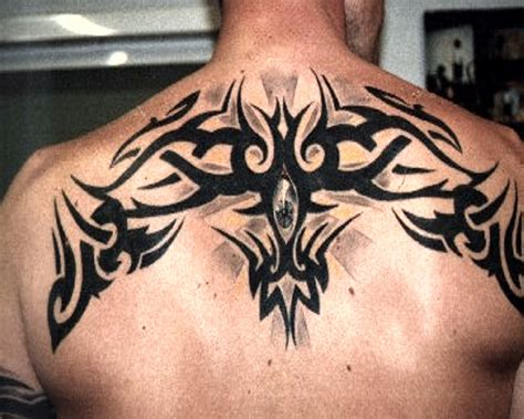 upper back tattoos for men tribal back celtic design s