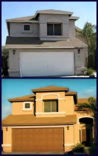 Exterior Brick Paint Ideas - before and after stucco exterior paint stucco homes