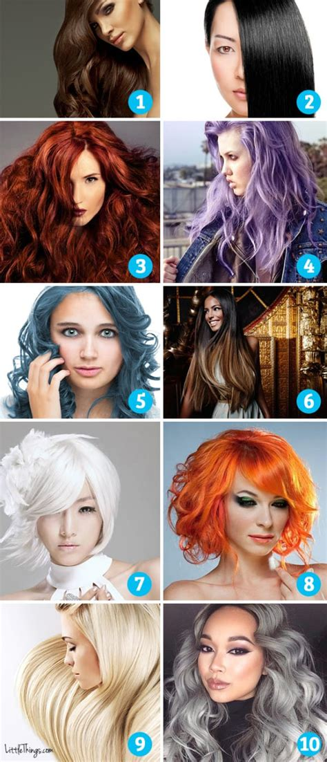 hairstyle ideas quiz which hair color appeals to you it reveals secrets of