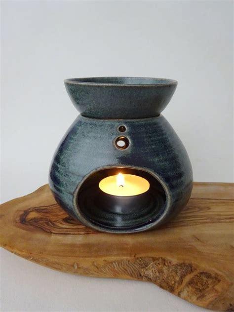 ladari ceramica blue green handmade ceramic essential burner