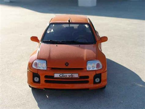 renault orange renault clio v6 orange universal hobbies diecast model car