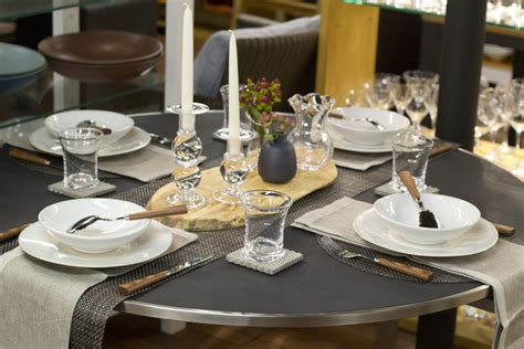 stunning round table setting weekly table setting concrete and carbon didriks