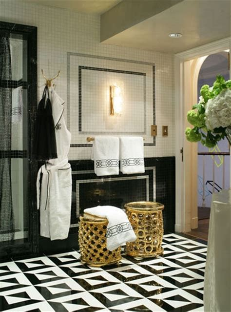 black white and gold bathroom home decor black
