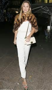 She Sis Jamsuit Sephora Jumpsuit sam faiers wows in white jumpsuit and fur cape as she enjoys dinner with billie and ferne