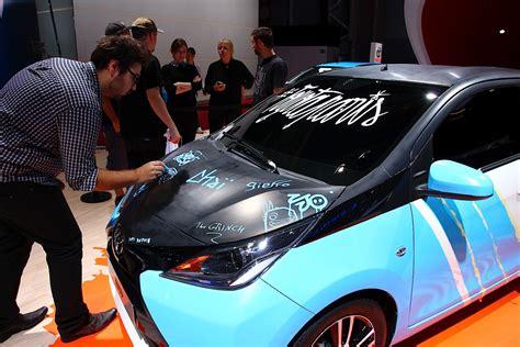 Toyota Aygo Custom Toyota Aygo Gets Custom Artwork For Motor Show 2014