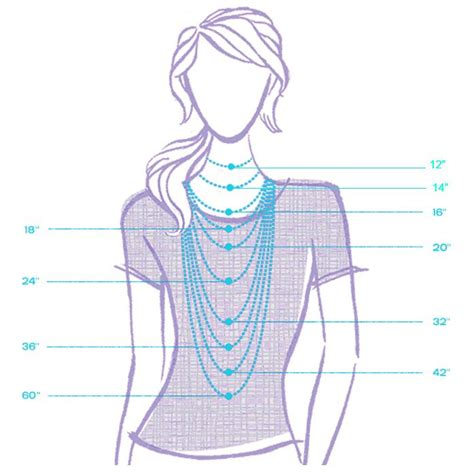 necklace length diagram necklace length chart for easy reference new on the