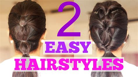 quick and easy hairstyles for gym 2 quick hairstyles for work college school or the gym