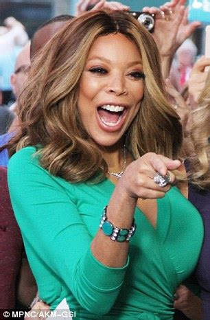wendy williams shows off her assets in figure hugging