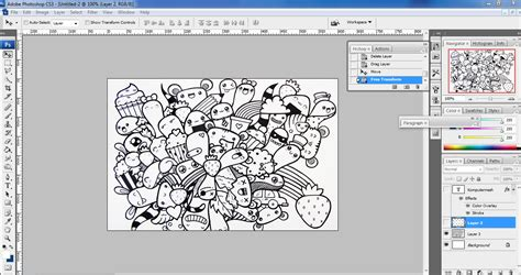 membuat tulisan art online cara mudah membuat doodle art name di photoshop
