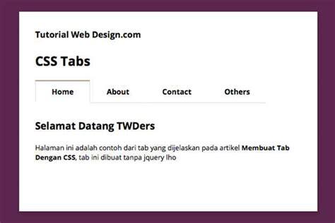membuat tab html membuat tabs dengan css bagus bigwanto