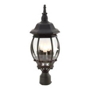 hton bay 3 outdoor post light hton bay 3 light black outdoor post lantern gnc1813a bk