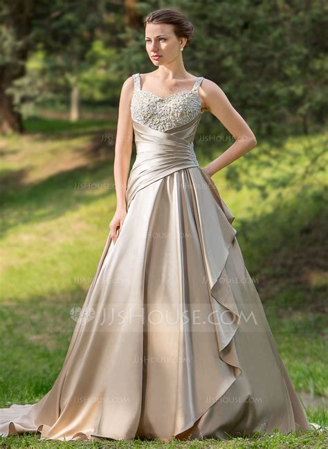 Brautkleider In Farbe by Gown Sweetheart Court Satin Wedding Dress With