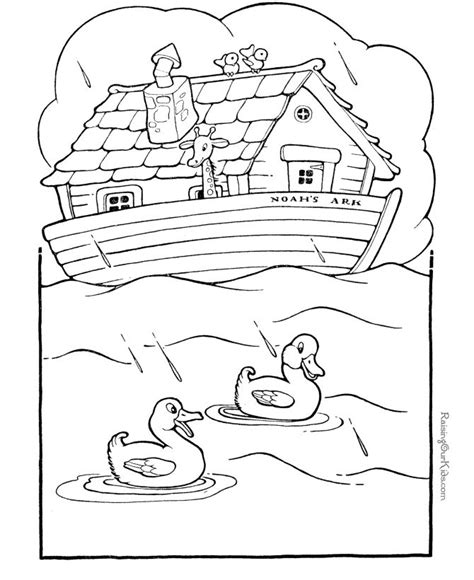 free printable noah s ark bible coloring pages kids