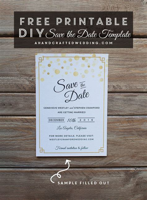 modern diy save  date  printable diy save