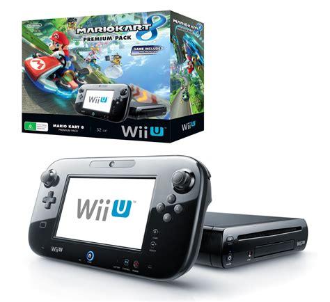 wii u on wii console nintendo 32gb wii u console premium pack with mario kart 8