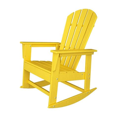 Adirondack Chairs Lowes by Shop Polywood South Lemon Recycled Plastic Rocking