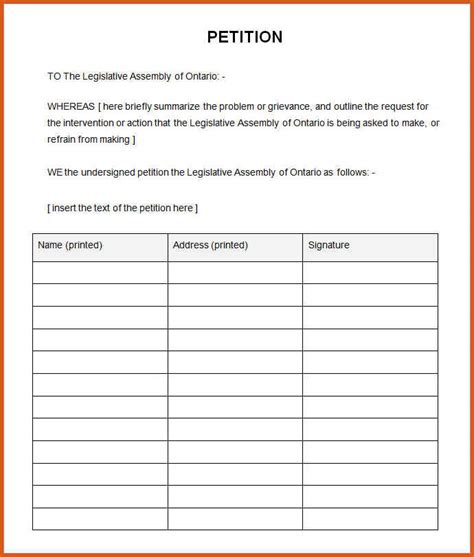 how to make a petition general resumes