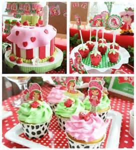 Strawberry shortcake themed birthday party via kara s party ideas