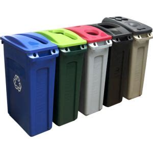 rubbermaid slim jim large recycling bins ideal for offices