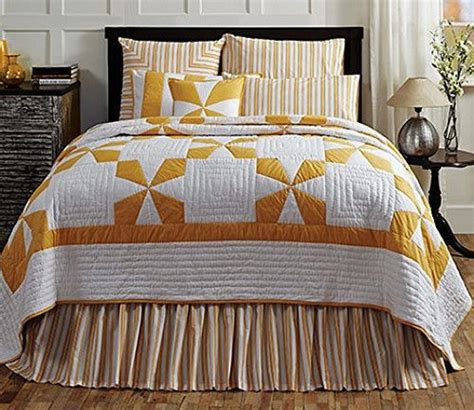 maltese coverlet new primitive country yellow mustard white maltese cross