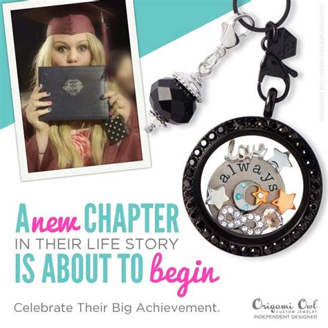 graduation origami owl new chapter origami owl 174 social media graphic origami