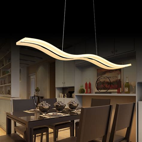 Hanging Ceiling Lights For Kitchen Aliexpress Buy 40w 56w Led Pendant Lights Modern Kitchen Acrylic Suspension Hanging