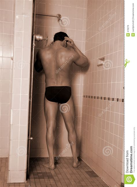 taking a shower royalty free stock image image 478276