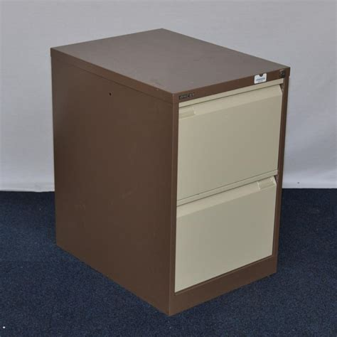 Bisley 2 Drawer Filing Cabinet Bisley Bs2e Brown 2 Drawer Filing Cabinet