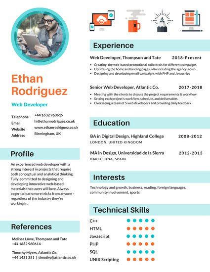Resume Samples Online Free by Customize 122 Infographic Resume Templates Online Canva
