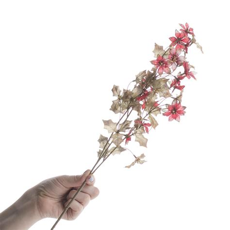 christmas floral picks and stems shimmering artificial flower branch picks and stems floral supplies craft