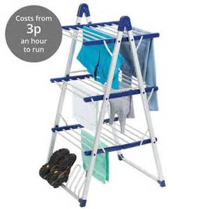 3 Tier Electric Heated Clothes Laundry Airer Dryer 3 Tier Heated Airer Dunelm