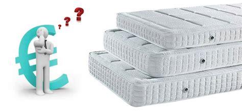 quanto costa un materasso quanto costa un buon materasso schienax