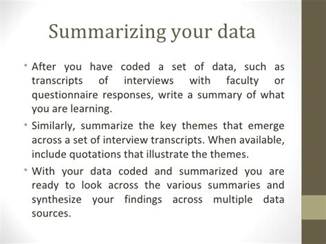 how to write a data analysis for a research paper data analysis qualitative data presentation 2
