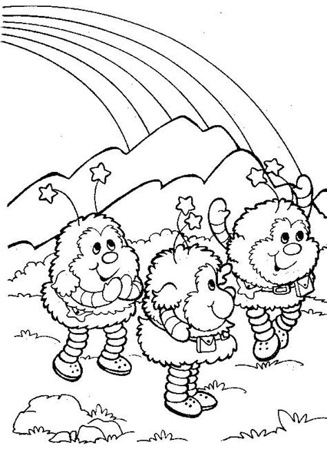 rainbow coloring page for adults 98 best rainbow brite images on pinterest