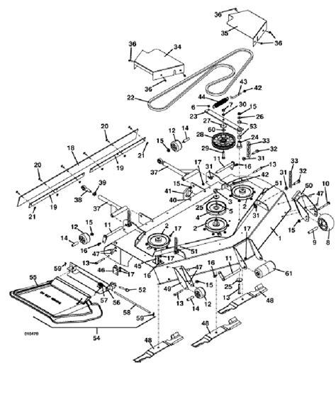 grasshopper mower parts diagram 2003 grasshopper 325 mower 52 quot deck assembly parts