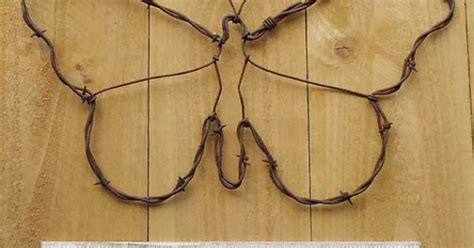 butterfly handmade metal decor barbed wire country