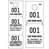 Coat Check Tickets Template by Coat Check Tags White Stock Office Supplies Ams Printing